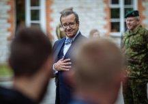 Eesti Vabariigi presidendi lahkumisvisiit Kaitseväe Staabi - ja sidepataljoni.
