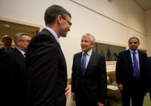 Kaitseminister Sven Mikser kohtus Ameerika Ühendriikide kaitseministri Chuck Hageliga