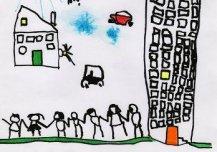 Tulevikus on Eestis suuremad linnad, kõrgemad majad, sõbralikumad inimesed. Sõitma ei pea enam maa peal, vaid taevas - nii autode, lennukite kui ka oma majadega. Vajadusel saab ilma tellida - päikest, vihma... Autor: Harto-Alari Tomson 5a, Vändra lasteaed