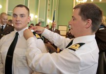 The graduation of the first navy officer's course