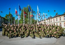 Last lineup in Headquarters Support and Signal Battalion before going into the Reserves.