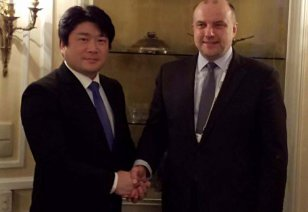 Luik met with his colleagues from Slovenia and Japan