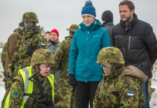 Minister of Defence Margus Tsahkna visited the exercise together with the President of the Republic Kersti Kaljulaid.