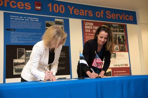 Eesti ja USA allkirjastasid lähiaastate julgeolekukoostöö kokkuleppe
