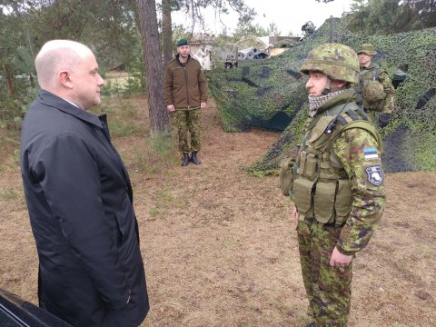 Minister of Defence Luik: the commitment of reservists is inspiring
