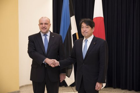 Japanese State Minister of Defence visits Estonia for the first time