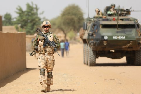 Estonia is contributing a 50 member infantry unit, armoured personnel carriers and support elements, to operation Barkhane. The unit is stationed at the Gao field base, and is tasked with ensuring the security of the base and the surrounding area.