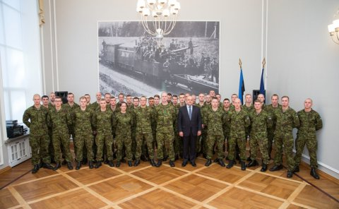 Estonian Minister of Defence thanked Estonian troops for their service in Mali