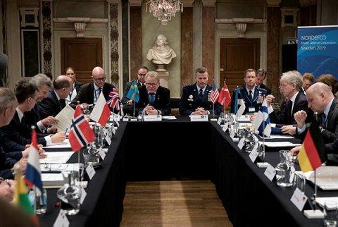 Põhjala ja Balti kaitseministrite ning Põhjala Grupi kaitseministrite kohtumine.