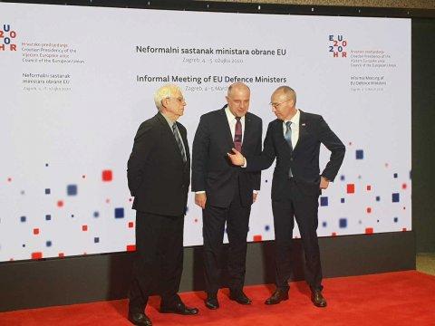 EL kaitseministrid arutasid eile ja täna Zagrebis Euroopa Liidu kaitsepoliitika hetkeseisu.