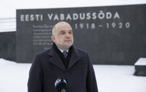 Minister of Defence Luik commemorated those who gave their lives in the War of Independence with a minute of silence