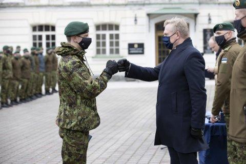 Kaitseminister Laanet tänas missioonil käinud kaitseväelasi