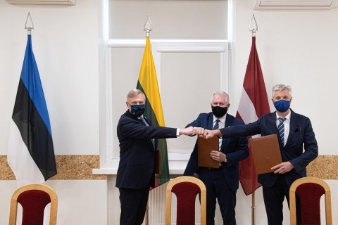 Baltic Defence Ministers. Photo: Ministry of National Defence of Lithuania