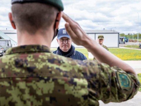 Kaitseminister Laanet väisas õppust Kevadtorm. Foto: Kaitsevägi