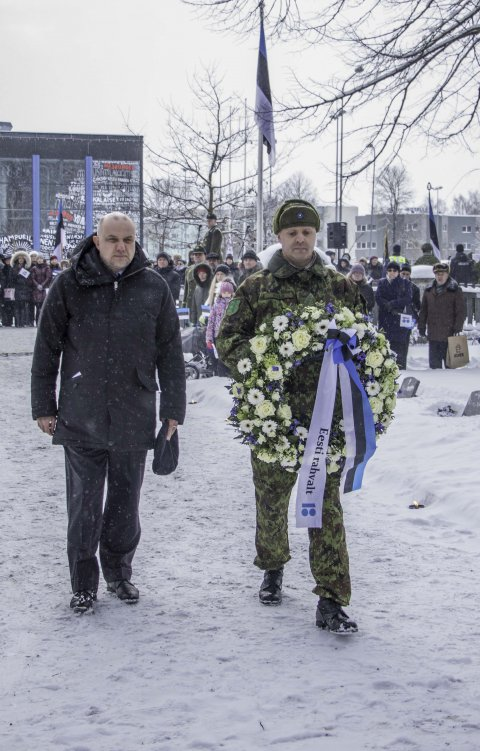 Luik: austagem Eesti eest võidelnuid. Foto: Karri Kaas
