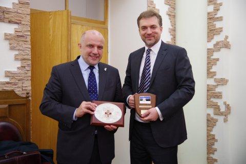 Estonian Minister of Defence Jüri Luik with Ukrainian Minister of Defence Andriy Zagorodnyuk
