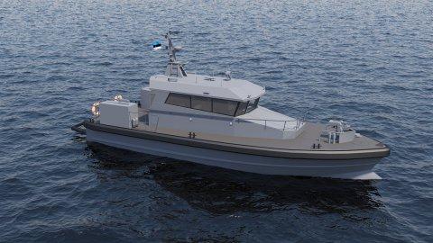 Kaitseministeerium soetab Saaremaa ettevõttelt väekaitsekaatrid.Foto: Baltic Workboats (BWB) AS