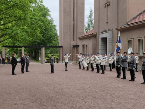 Minister of Defence Luik is on an official visit to Finland.