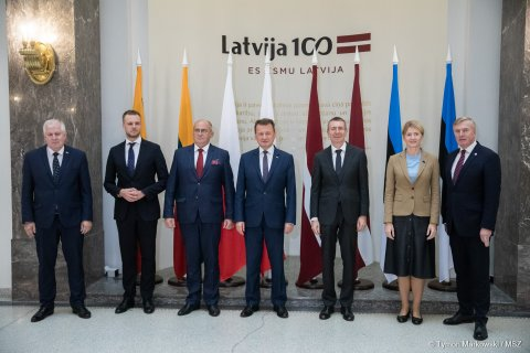 Foreign Affairs and Defence Ministers from the Baltic Republics and Poland met in Riga.