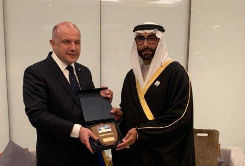 Kaitseminister Jüri Luige kohtumine Araabia Ühendemiraatide asekaitseminister Mohammed Bin Ahmed Al Bawardiga.