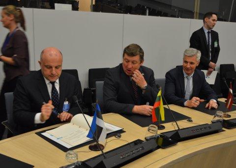 Kohtumisel allkirjastasid Eesti kaitseminister Jüri Luik, Leedu kaitseminister Raimundas Karoblis ja Läti kaitseminister Artis Pabriks ühise õhuseirevõrgu ja juhtimissüsteemi BALTNET uuendatud kokkuleppe.