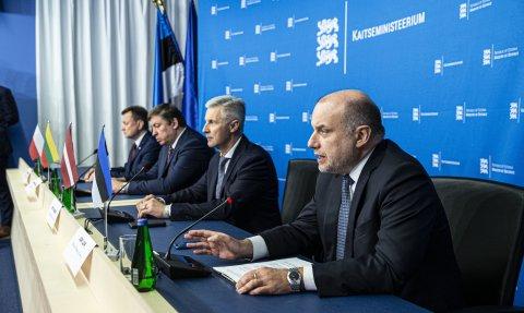 Kaitseministrite ühine pressikonverents.