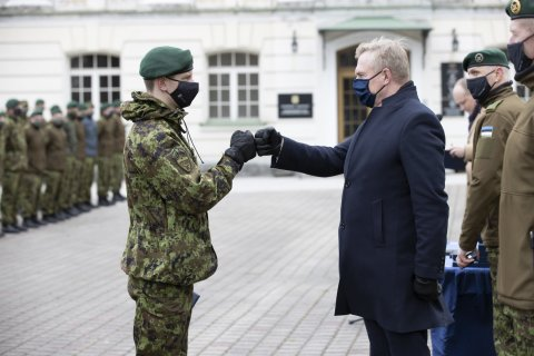 Minister of Defence Laanet thanked the servicemen who have participated in missions