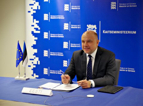 Minister of Defence of Estonia, Jüri Luik participated in a video conference between the European Union Ministers of Defence.