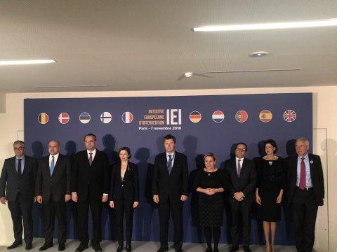 Euroopa kaitsevalmiduse algatusega liitunud riikide kaitseministrid Pariisis.
