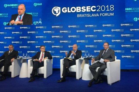 Kaitseminister Jüri Luik Bratislavas rahvusvahelisel julgeolekufoorumil GLOBSEC 2018