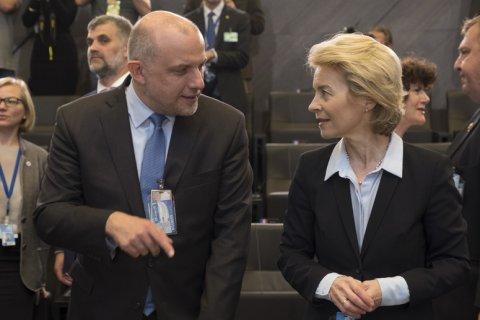 Kaitseminister Jüri Luik osales eile Saksa endise kaitseministri Ursula von der Leyen