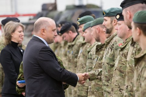 Danish troops serving at Tapa receive mission medals