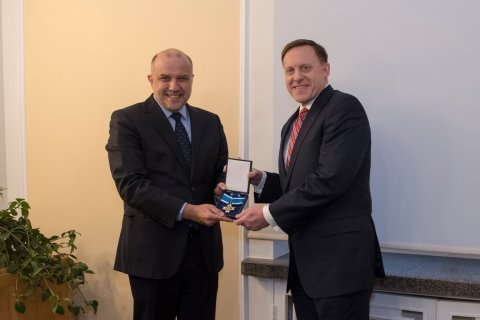 Minister of Defence Jüri Luik met with Admiral Michael Rogers, Director of the National Security Agency (NSA), and Commander of the U.S. Cyber Command (USCYBERCOM)