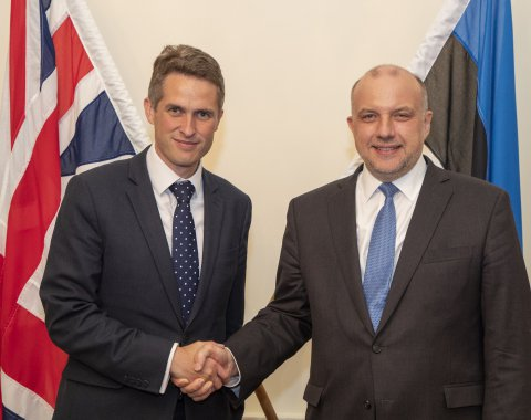 Ministers of Defence of Estonia and Great Britain met in London