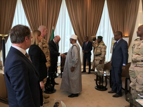 Luik discussed the situation in North Africa with the President of Mali and the leaders of military missions.