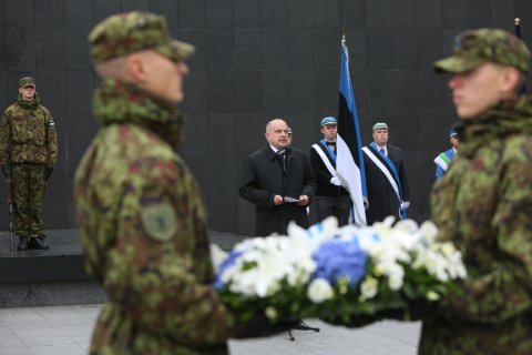 Minister of Defence Luik remembered courageous resistance fighters