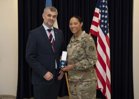 Permanent Secretary Prikk thanked the commander of the Maryland National Guard for exemplary cooperation