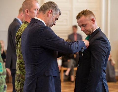 Kantsler Prikk tunnustas missioonil käinud Eesti kaitseväelasi