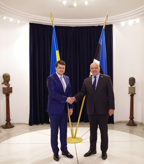 Minister of Defence Jüri Luik and Dmytro Razumkov, Chairman of the Verkhovna Rada of Ukraine, confirmed the continuation of strong defence cooperation